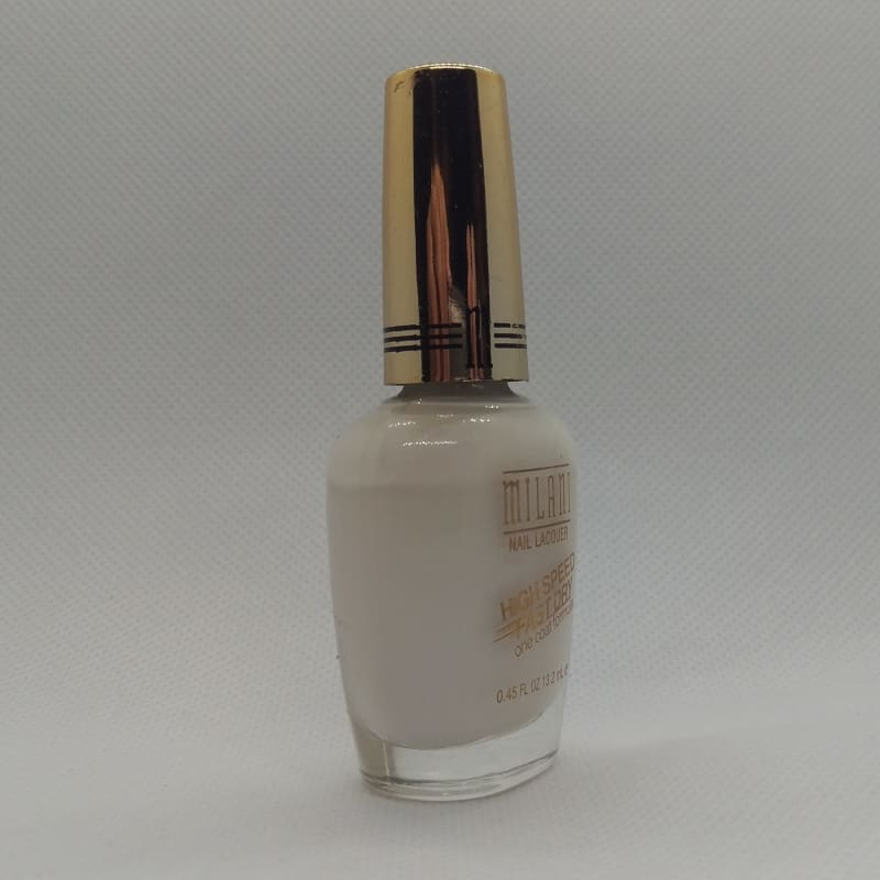 Milani High Speed Fast Dry One Coat Formula - 22 White on The Spot - Nail Polish
