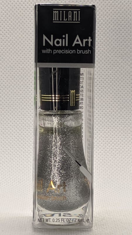 Milani Nail Art with Precision Brush - 702 Art of Silver-Nail Polish-Nail Polish Life