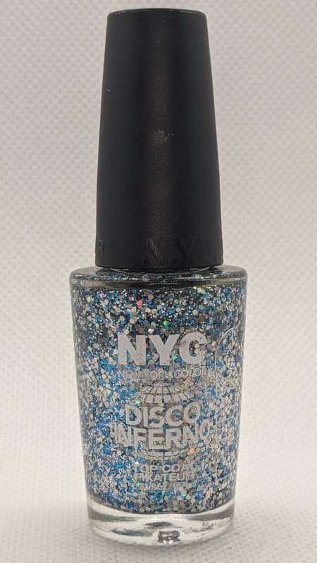 NYC In A Minute Sparkle Top Coat - 003 Disco Inferno-Nail Polish-Nail Polish Life