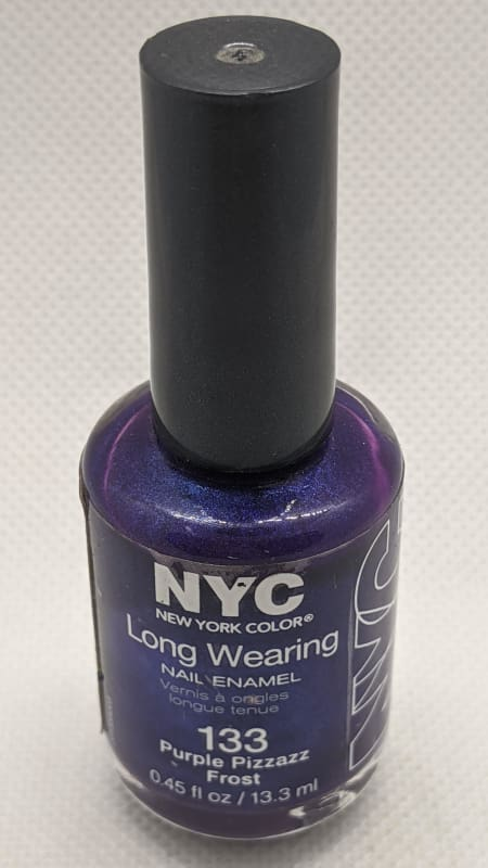 NYC Long Wearing Nail Enamel - 133 Purple Pizzazz Frost-Nail Polish-Nail Polish Life