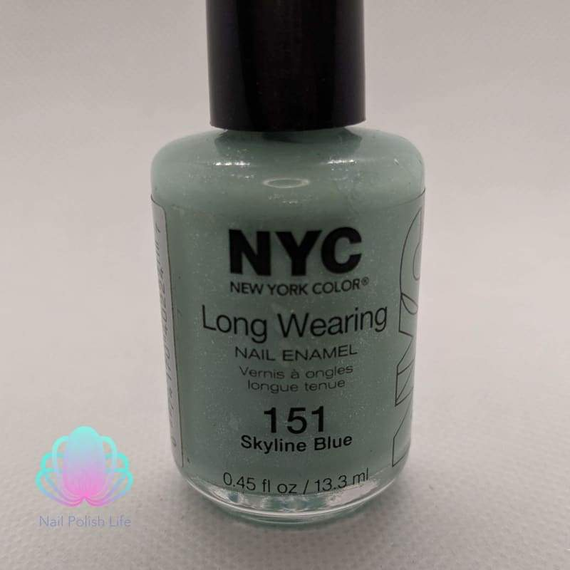 NYC Long Wearing Nail Enamel - 151 Skyline Blue-Nail Polish-Nail Polish Life
