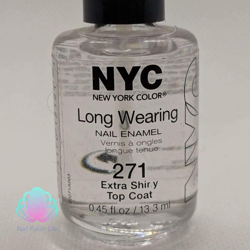 NYC Long Wearing Nail Enamel - 271 Extra Shiny Top Coat-Nail Polish-Nail Polish Life