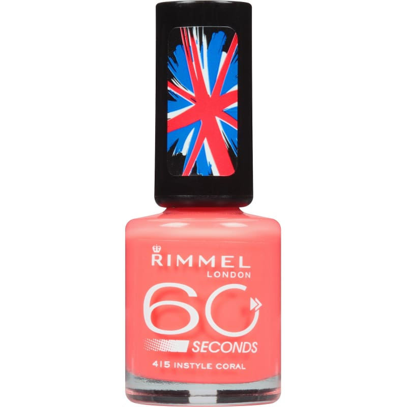 Rimmel 60 Seconds - 415 Instyle Coral - Nail Polish