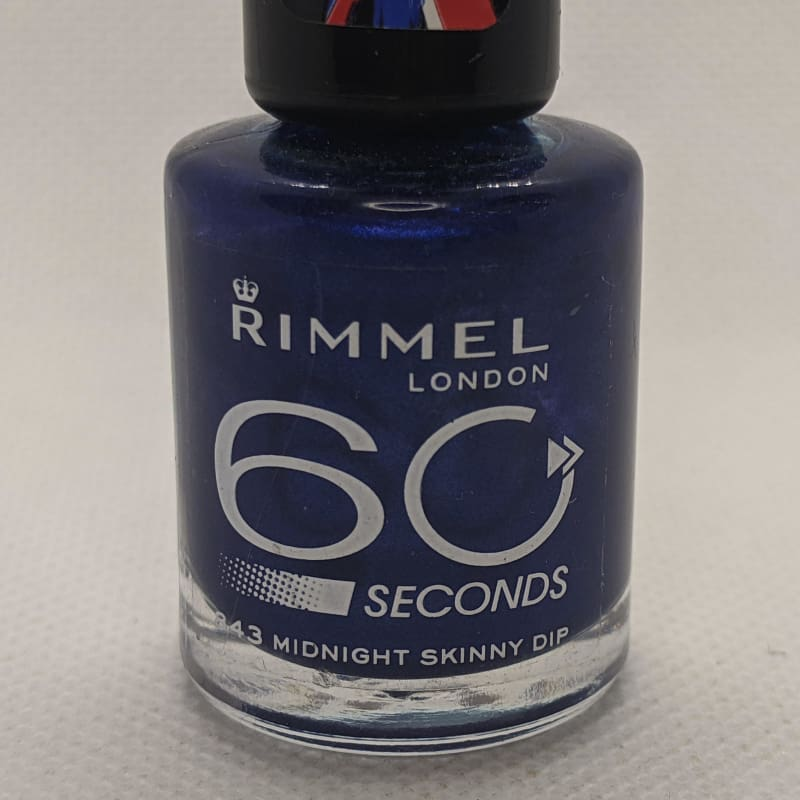 Rimmel 60 Seconds - 843 Midnight Skinny Dip-Nail Polish-Nail Polish Life