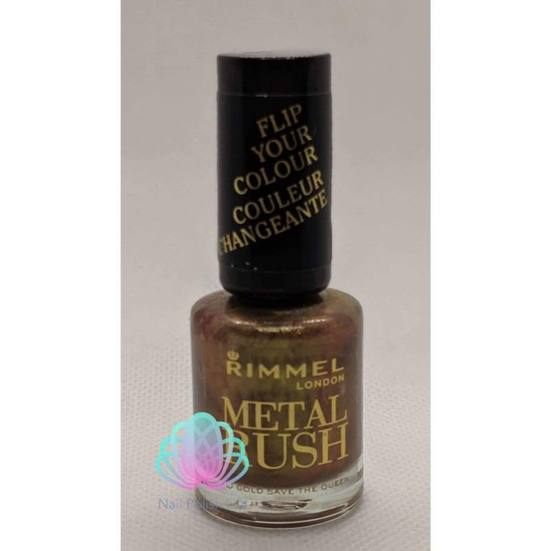 Rimmel Metal Rush DuoChrome - 70 Gold Save The Queen-Nail Polish-Nail Polish Life