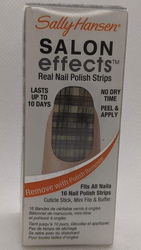 Sally Hansen Salon Effects - 550 Tweed-le Dee-Nail Applique-Nail Polish Life