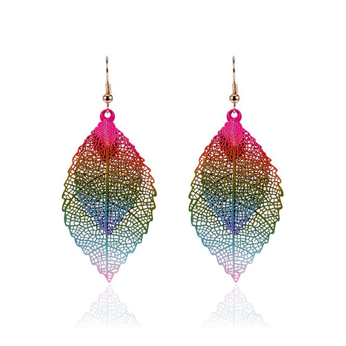 Vintage Leaves Drop Earrings For Women New Fashion Jewelry