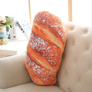Creative Bread Pattern Pillow Funny Soft Massage Neck Pillow PP Cotton Filler Cervical Health Care Pillow