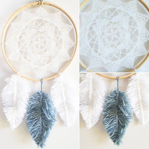 20 cm Yarn Feather Dream Catcher - Bespoke