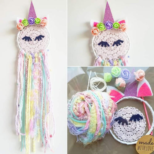 Unicorn 10 cm Dream Catcher Kit - Bespoke