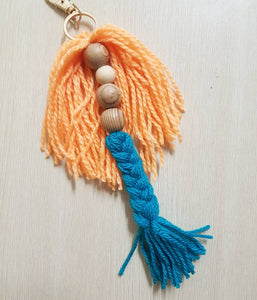 Bead Mermaid Key Ring - Ready Made