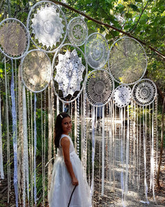 Oversized Multi Hoop Dream Catcher Backdrop - Bespoke