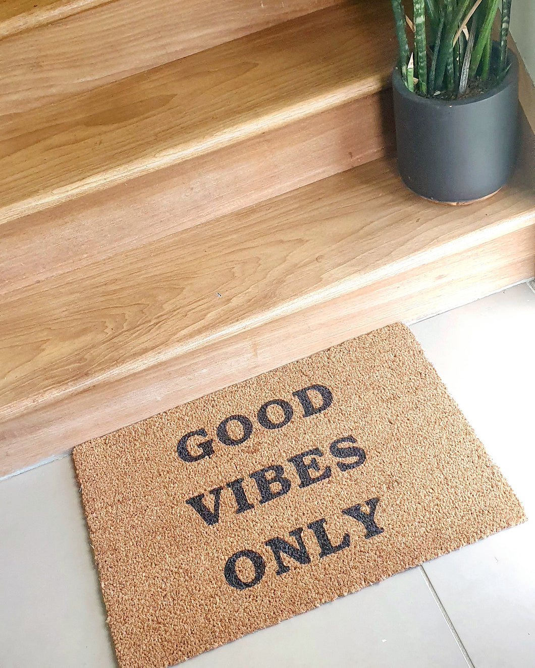 Good Vibes Only Doormat - Ready Made