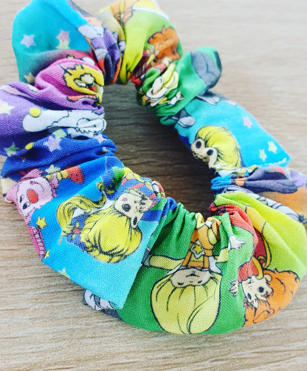 Rainbow Brite Scrunchie - Ready Made