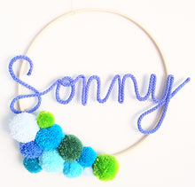 Load image into Gallery viewer, Pompom Named Wall Hanging - Bespoke