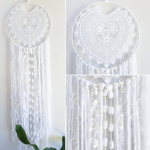 25 cm Hoop Heart Dream Catcher - Ready Made