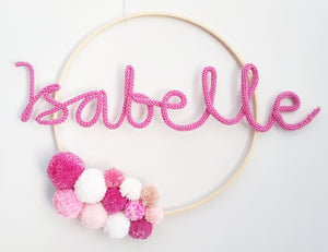 Pompom Named Wall Hanging - Bespoke