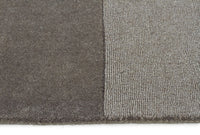 Timeless Boxed Pattern Wool Runner Rug Smoke