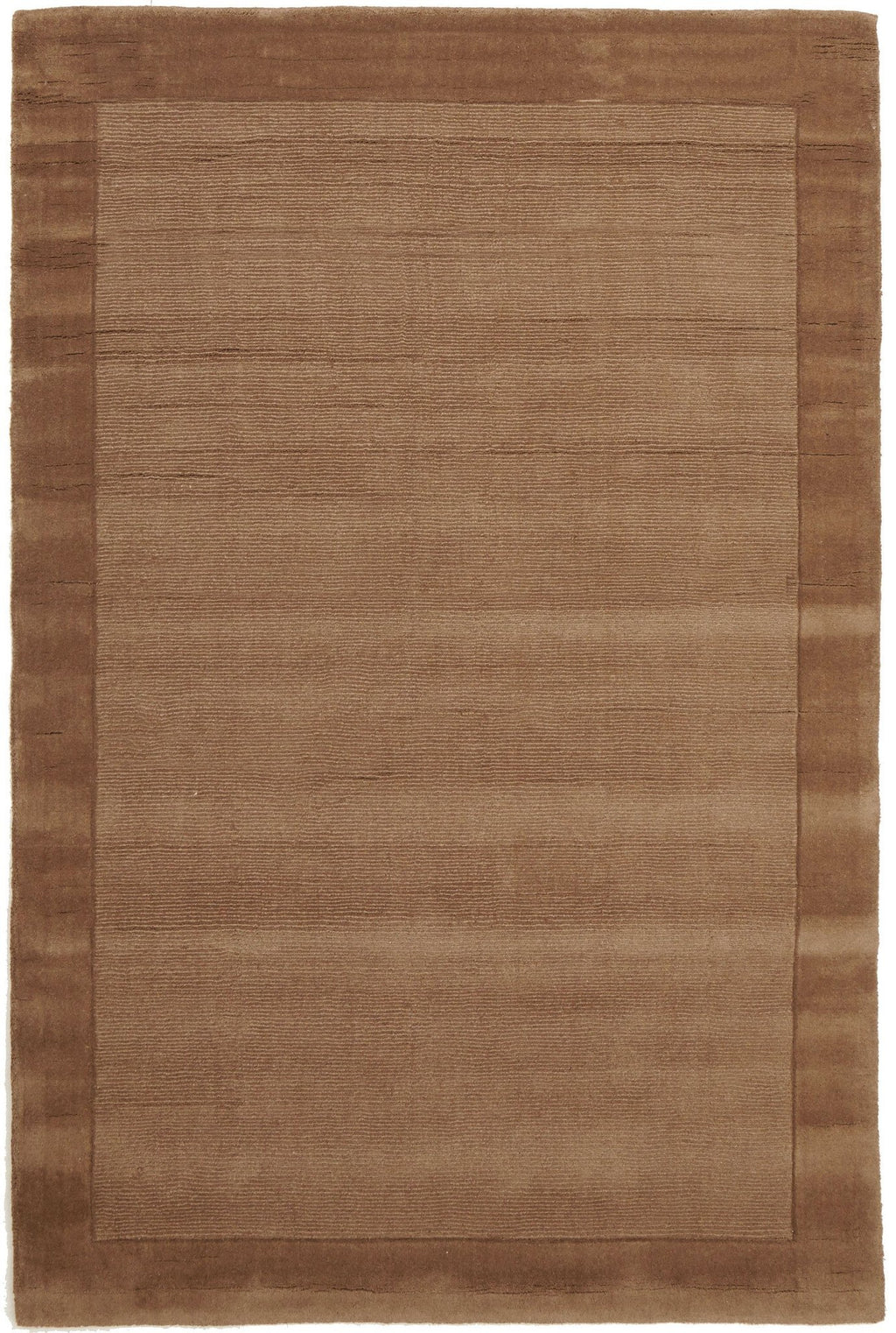 Timeless Loop Wool Pile Brown Coloured Rug