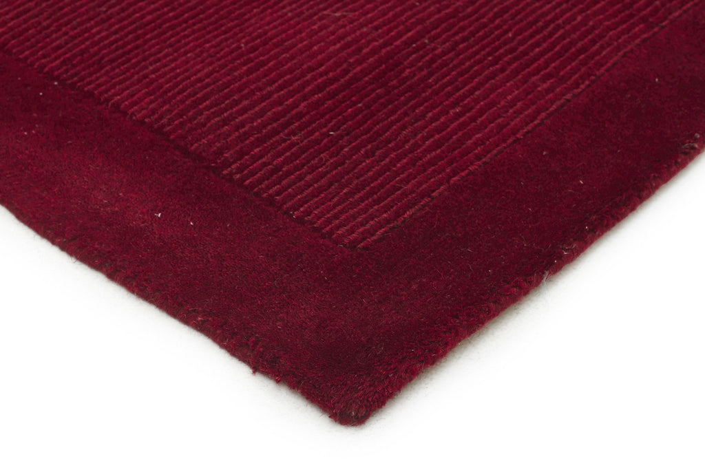 Timeless Loop Wool Pile Red Coloured Runner Rug