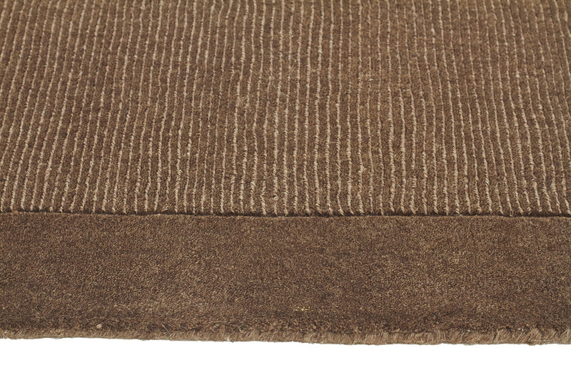 Timeless Loop Wool Pile Taupe Coloured Rug