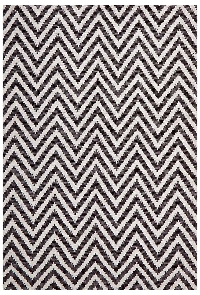Abode Chevron Design Chocolate Rug - Cheapest Rugs Online - 1