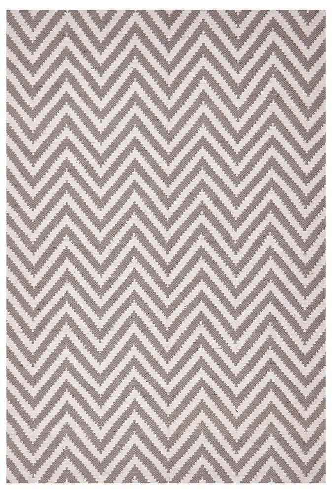 Abode Chevron Design Grey Rug - Cheapest Rugs Online - 1