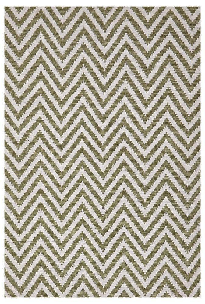 Abode Chevron Design Green Rug - Cheapest Rugs Online - 1