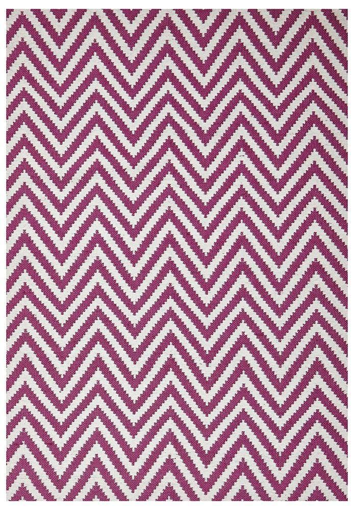 Abode Chevron Design Pink Rug - Cheapest Rugs Online - 1