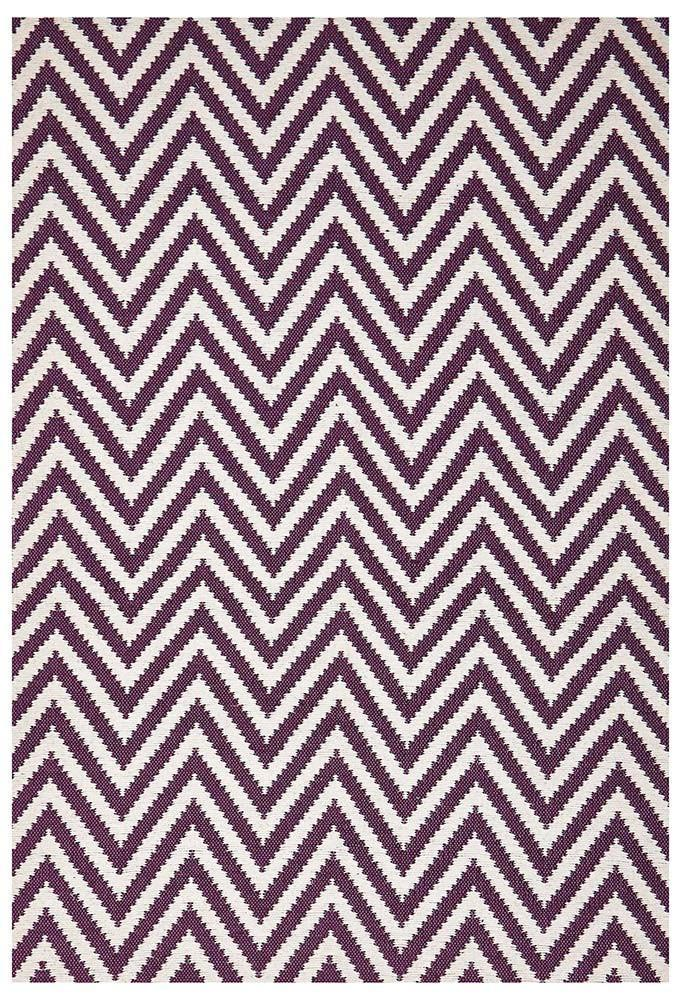 Abode Chevron Design Purple Rug - Cheapest Rugs Online - 1