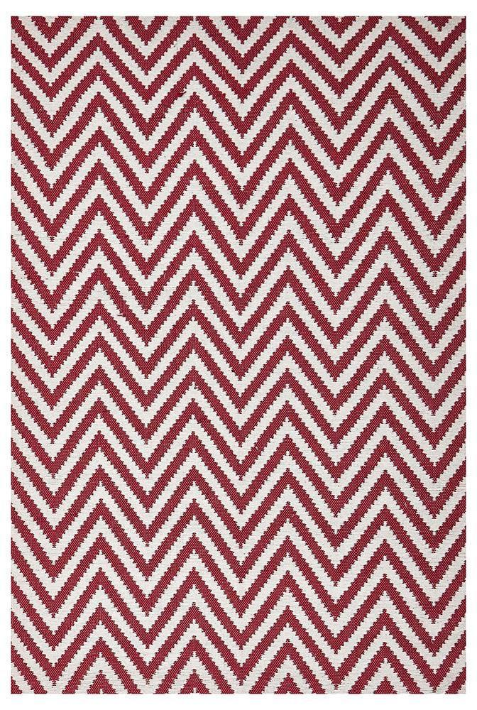 Abode Chevron Design Red Rug - Cheapest Rugs Online - 1
