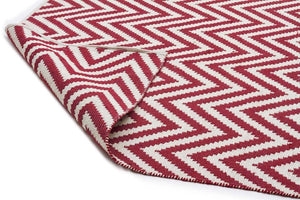 Abode Chevron Design Red Rug - Cheapest Rugs Online - 2