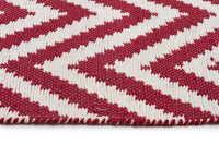 Abode Chevron Design Red Rug - Cheapest Rugs Online - 3