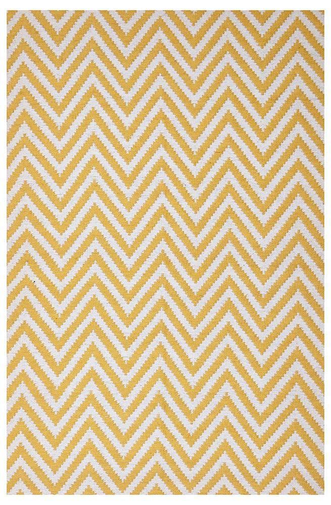 Abode Chevron Design Yellow Rug - Cheapest Rugs Online - 1