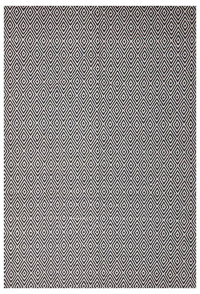 Abode Diamond Design Black Rug - Cheapest Rugs Online - 1