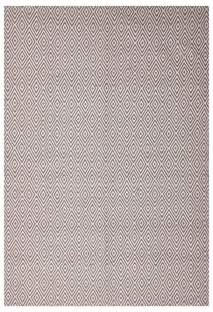 Abode Diamond Design Grey Rug - Cheapest Rugs Online - 1