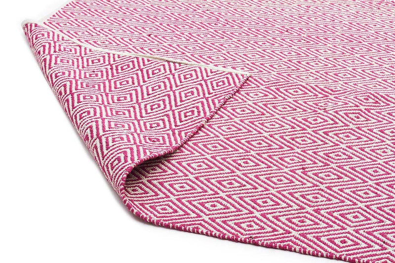 Abode Diamond Design Pink Rug - Cheapest Rugs Online - 2