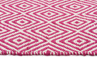 Abode Diamond Design Pink Rug - Cheapest Rugs Online - 3
