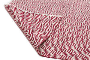 Abode Diamond Design Red Rug - Cheapest Rugs Online - 2