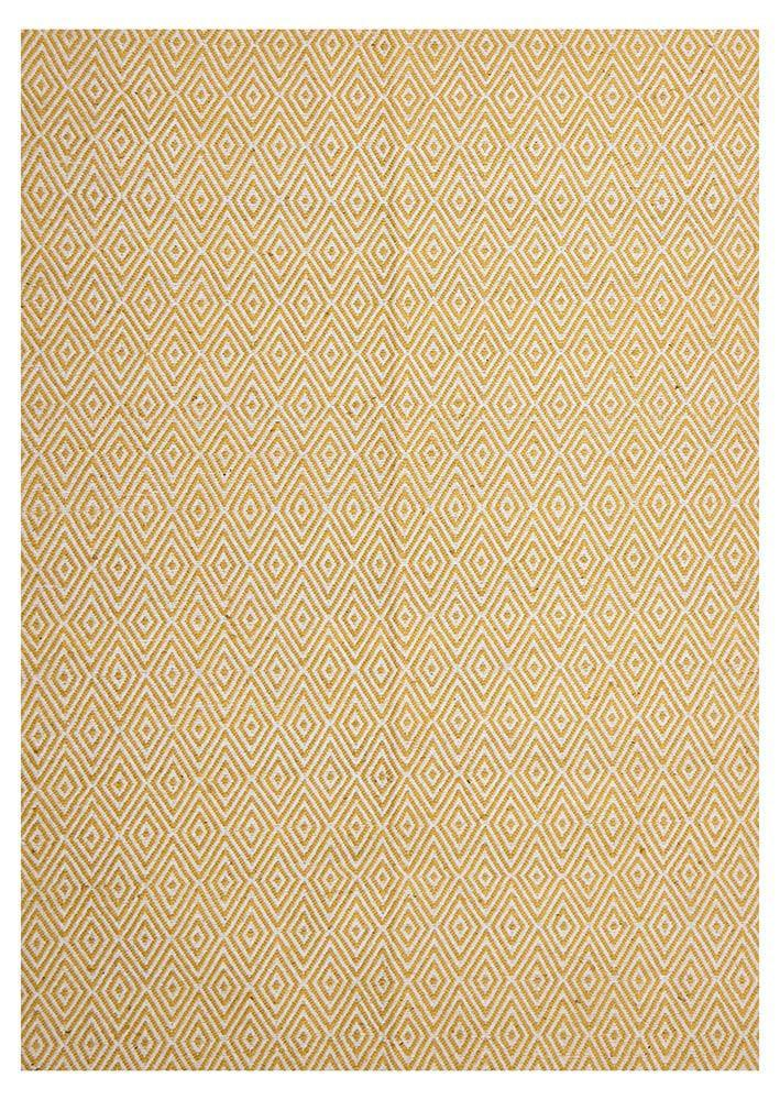 Abode Diamond Design Yellow Rug - Cheapest Rugs Online - 1