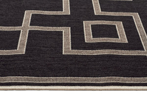 Alfresco Indoor Outdoor Collection 6507 Charcoal Rug