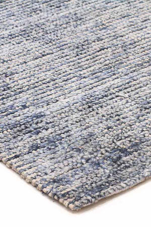 Allure Indigo Cotton Rayon Rug