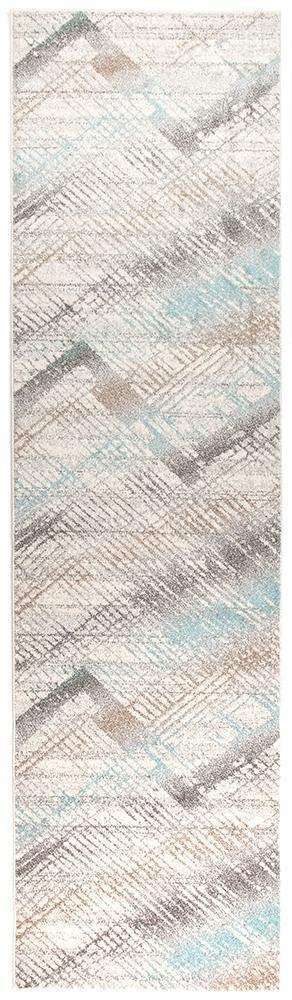 Aspect Riverside Jagged Blue Runner Rug