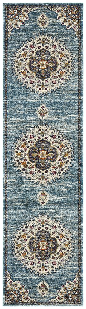 Babylon 202 Blue Runner Rug