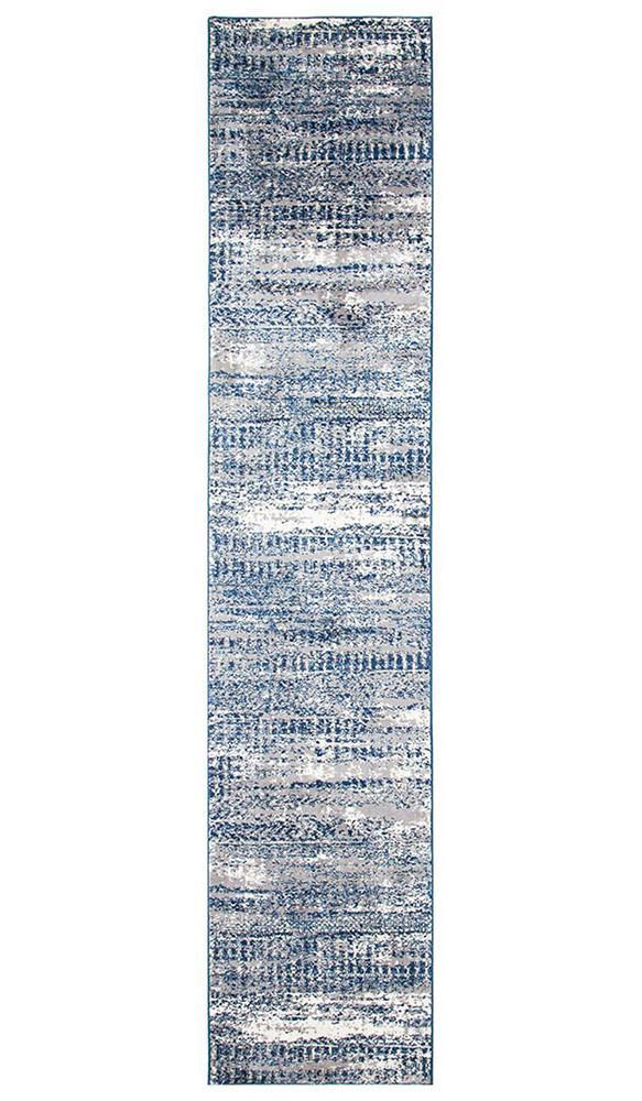 Chelsea Doris Modern Runner Rug Blue Cream
