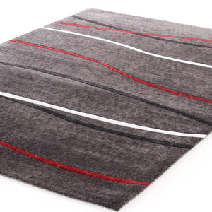 City Plain Stripe Rug Charcoal