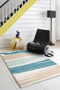 City Brush Strokes Rug Blue