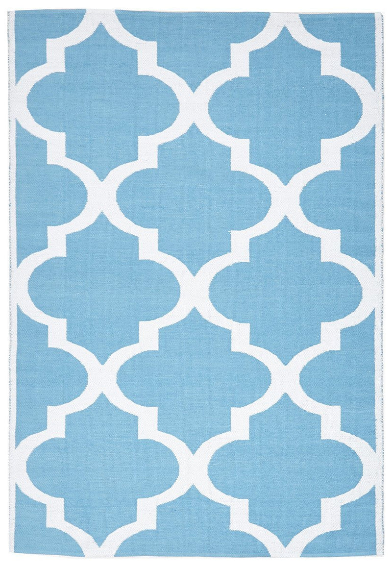 Coastal Indoor Outdoor 2 Turq Rug