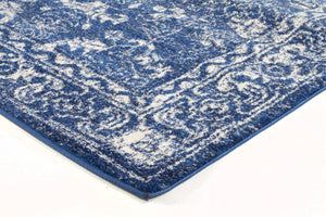 Evoke Oasis Navy Transitional Runner Rug