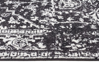 Evoke Scape Charcoal Transitional Runner Rug